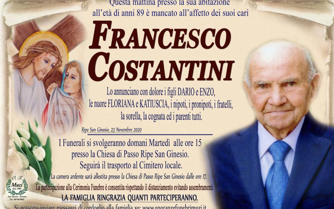 COSTANTINI FRANCESCO