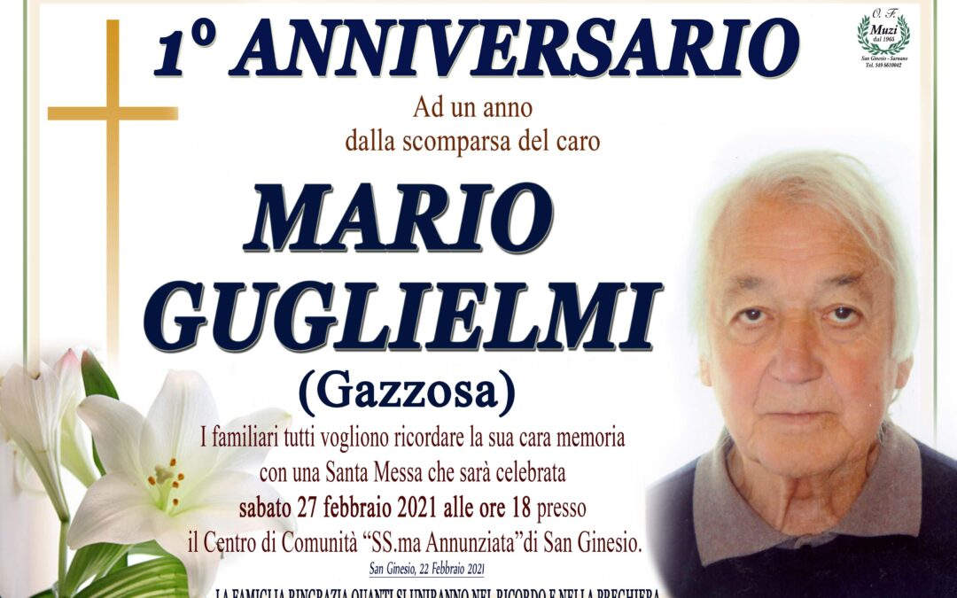 ANNIVERSARIO MARIO GUGLIELMI