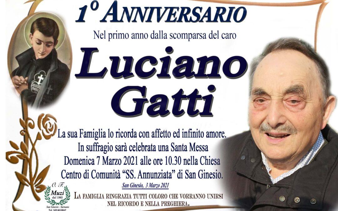 PRIMO ANNIVERSARIO LUCIANO GATTI
