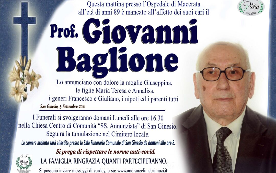 Prof. Giovanni Baglione